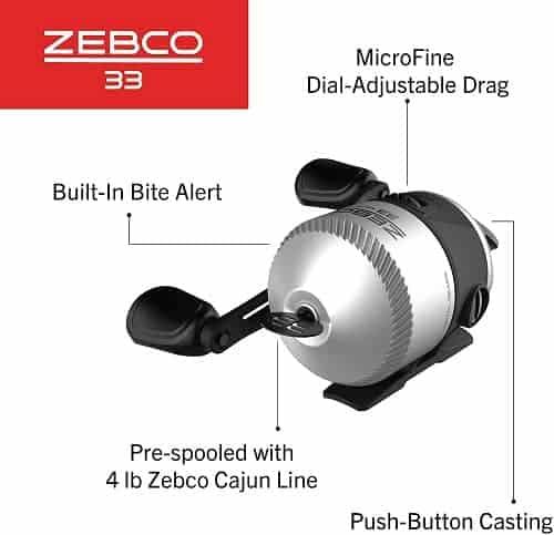 Zebco 33 Cork Spincast Reel