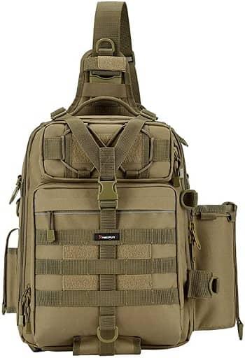 Piscifun Fishing Tackle Storage Bag Outdoor Shoulder Backpack Cross Body Sling Bag