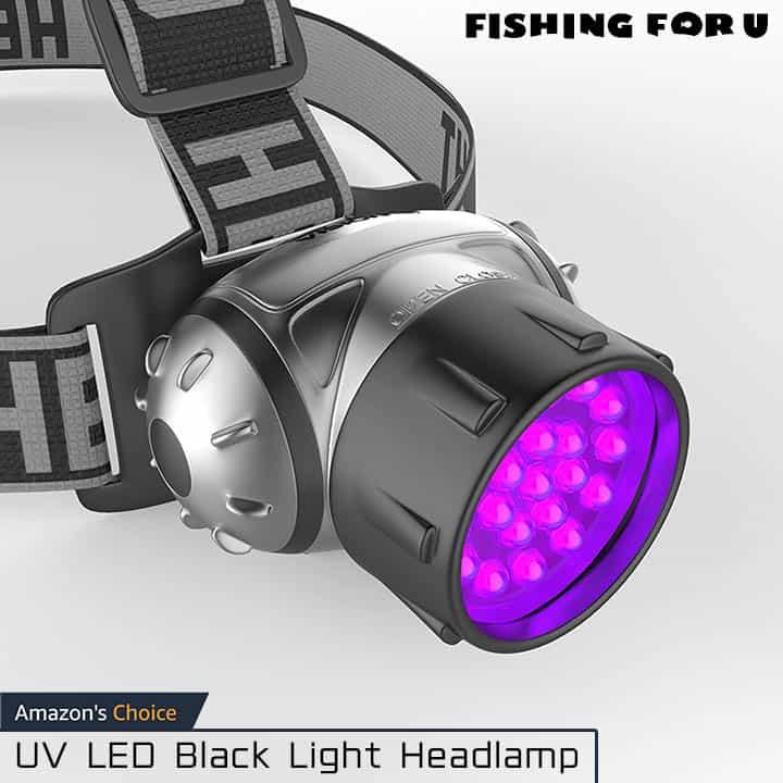 UV LED Black Light Headlamp