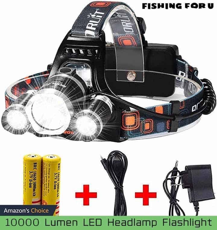10000 Lumen LED Headlamp Flashlight