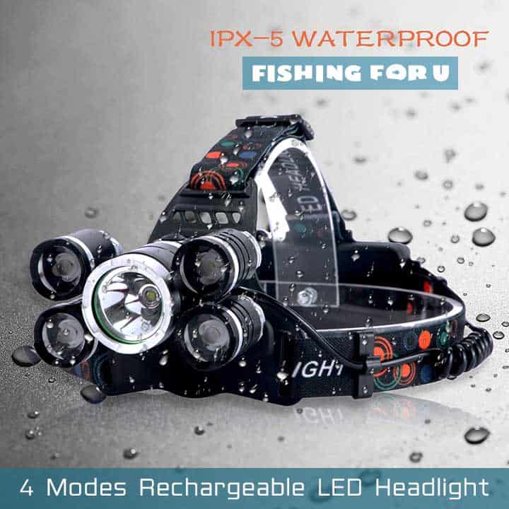 4 Modes Rechargeable LED Headlight
