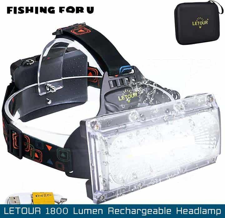 LETOUR 1800 Lumen Rechargeable Headlamp