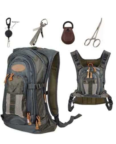 Aventik Fly Fishing Vest Backpack, Fishing Chest Pack Fishing Vest