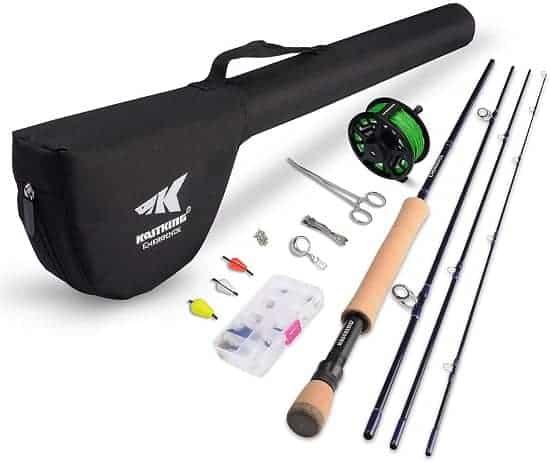 KastKing Emergence Fly Fishing Combo - 4 Piece Graphite Fly Fishing Rod
