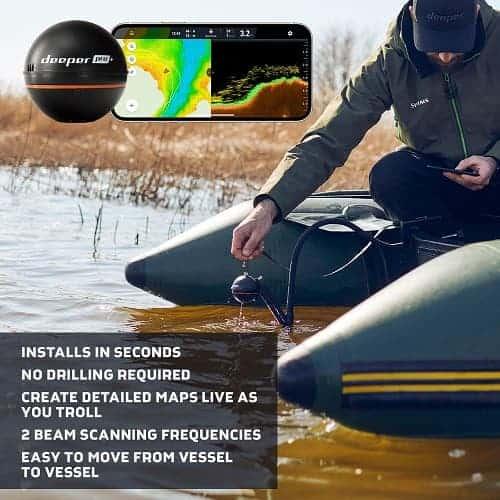 Deeper PRO+ Smart Sonar - GPS Portable Wireless Wi-Fi Fish Finder