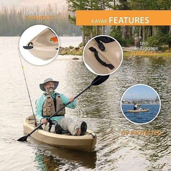 Lifetime Tamarack 100 Fishing Kayak Features