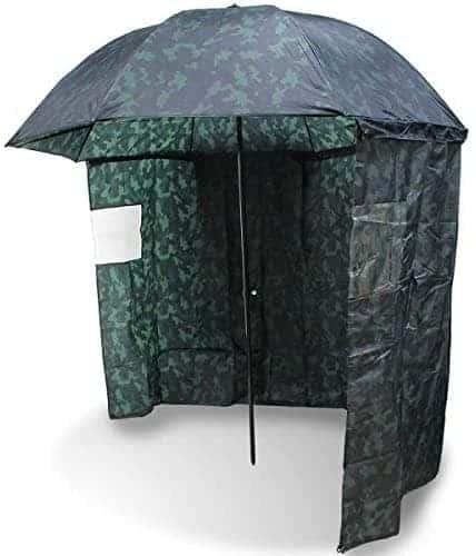 NGT Carp Fishing 45 Camo Umbrella Brolly System + Zip on Side Sheet & Tilt Function
