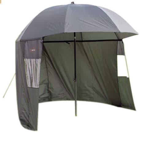 Ultra Fishing Angling 2.2m Umbrella Shelter w Zip Sides Windows Brolly