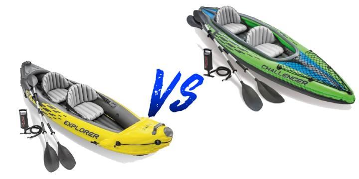 Intex Explorer K2 kayak  vs intex challenger